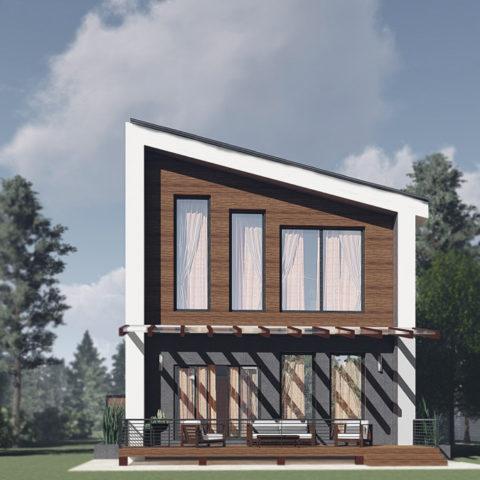 Проект индивидуального жилого дома общей площадью 172кв.м