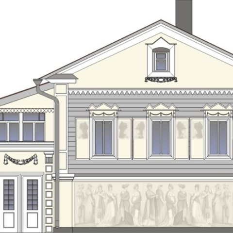 Реставрация фасадов жилого «профессорского» дома
