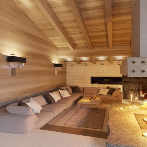 Проект интерьера 3-х этажного индивидуального дома для молодой семьи
